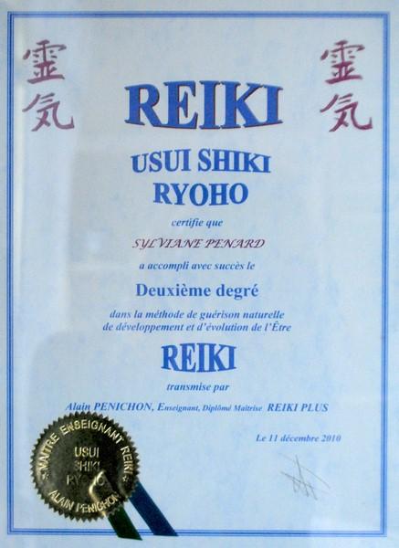 reiki 2 ° degré à Limoges Sylvia Penard